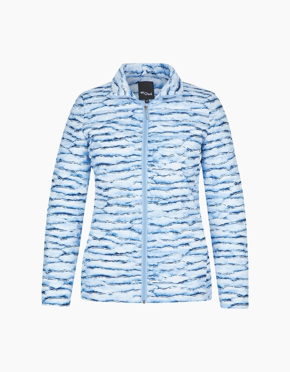 MY OWN Steppjacke mit Marmor-Muster in Blau/Weiß   ADLER Mode Onlineshop