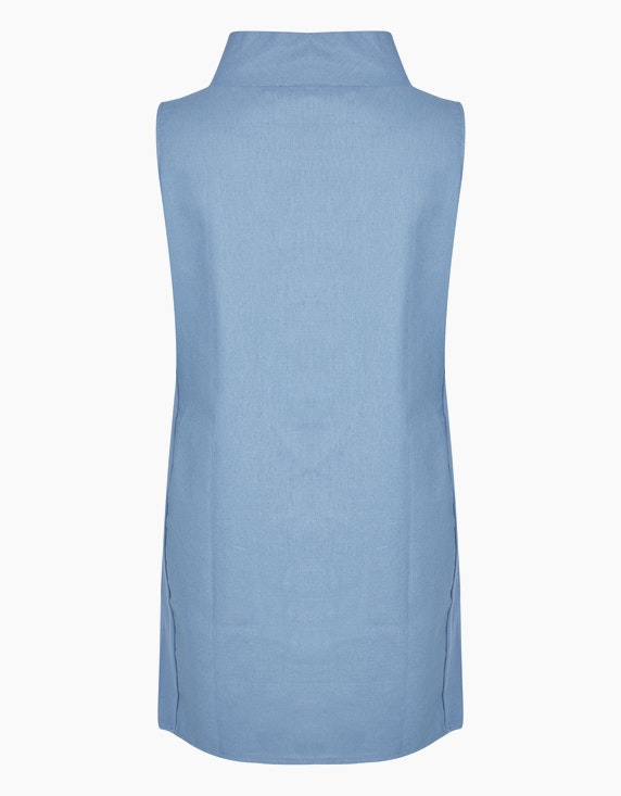 Thea Kleid mit Stickerei und weitem Stehkragen, mit Leinenanteil | ADLER Mode Onlineshop
