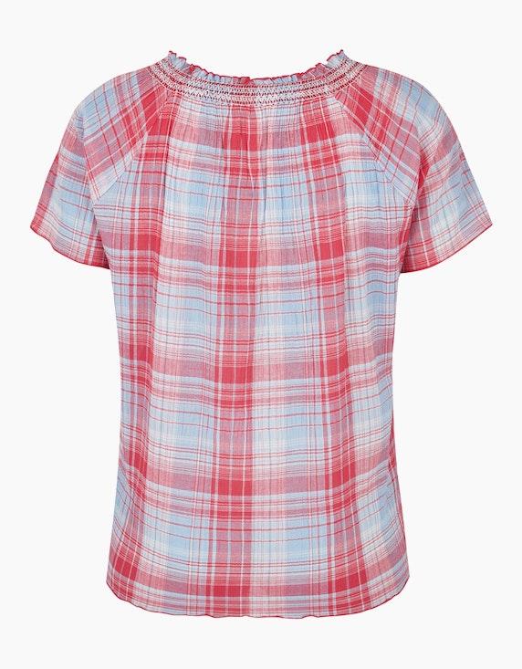 Thea Karo-Bluse aus reiner Baumwolle | ADLER Mode Onlineshop