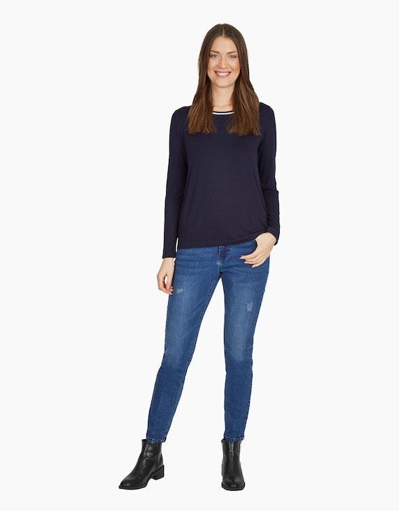 MY OWN Jeans-Hose mit Kontrastnähten und destroyed-Effekt | ADLER Mode Onlineshop