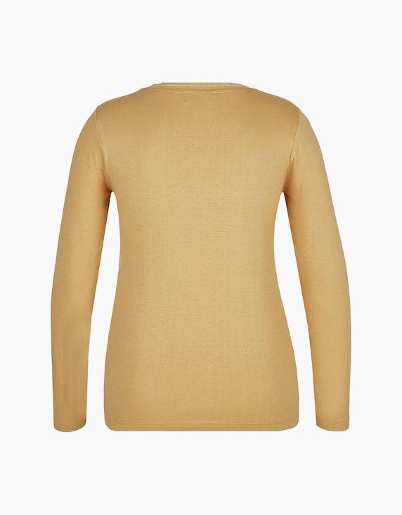 Bexleys woman Langarmshirt mit Strassbesatz und Foliendruck | ADLER Mode Onlineshop