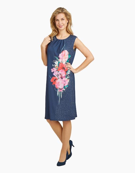 KS. selection Jerseykleid mit Druck und gelegten Falten | ADLER Mode Onlineshop