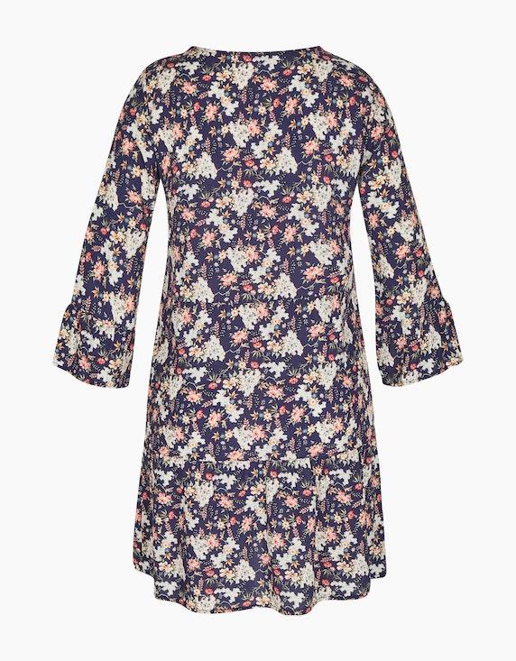MY OWN Tunika-Kleid mit floralem Druck und Trompetenärmeln | ADLER Mode Onlineshop