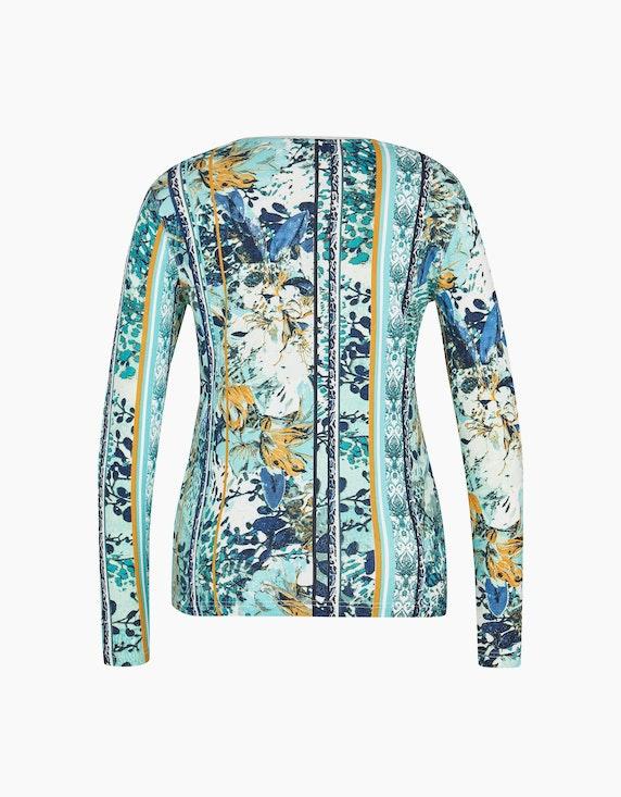 Bexleys woman Langarmshirt mit Mustermix und Strassbesatz   ADLER Mode Onlineshop