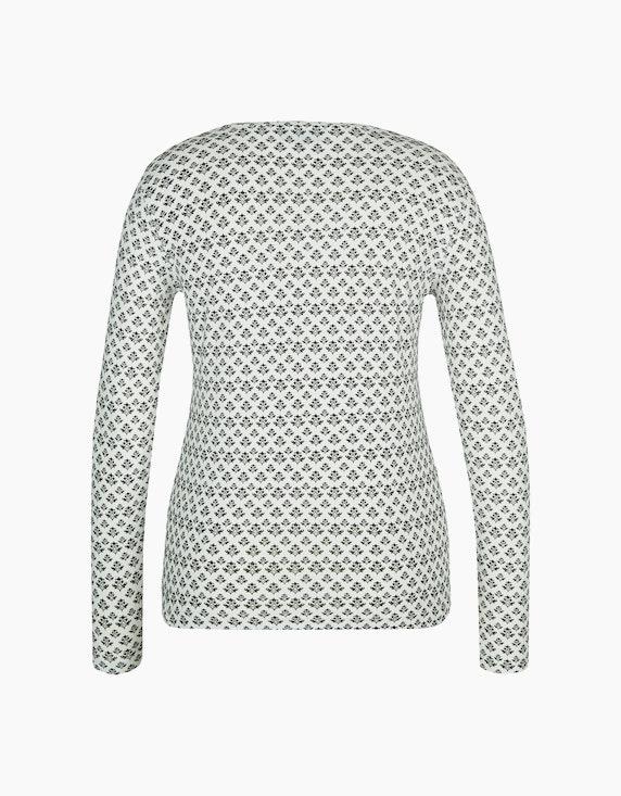 Bexleys woman Bedrucktes Basic Langarmshirt | ADLER Mode Onlineshop