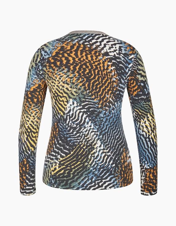 Bexleys woman Langarmshirt mit Glitzer-Ausschnitt | ADLER Mode Onlineshop