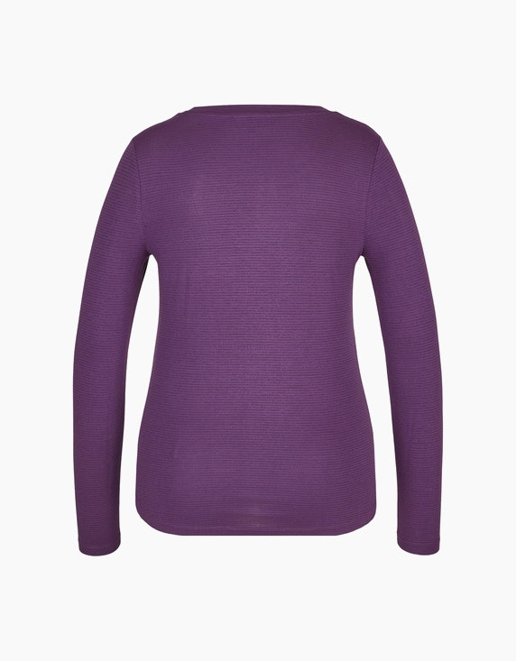 Bexleys woman Langarmshirt mit Glitzerstreifen   ADLER Mode Onlineshop