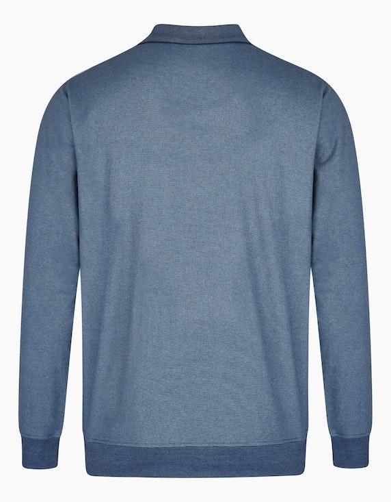 Bexleys man Langarm-Poloshirt in Jacquard-Twotone-Struktur | ADLER Mode Onlineshop