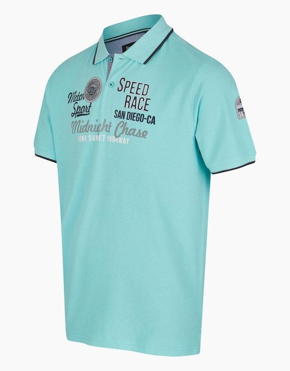 Bexleys man Modisches Poloshirt mit großem Frontprint | ADLER Mode Onlineshop