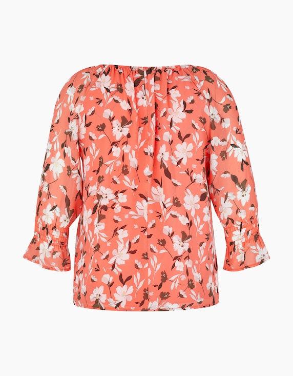 MY OWN Bluse aus floral gemustertem Crêpe-Chiffon   ADLER Mode Onlineshop