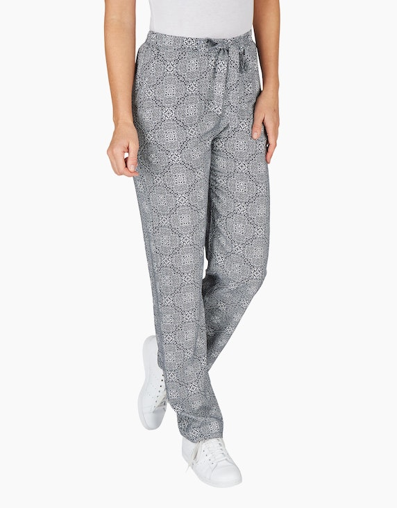 Bexleys woman Palazzo-Hose mit Allover-Print | ADLER Mode Onlineshop