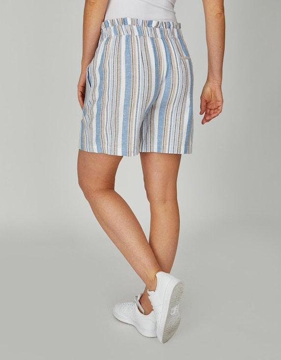 Bexleys woman Baumwoll-Leinen-Shorts im Streifendessin   ADLER Mode Onlineshop