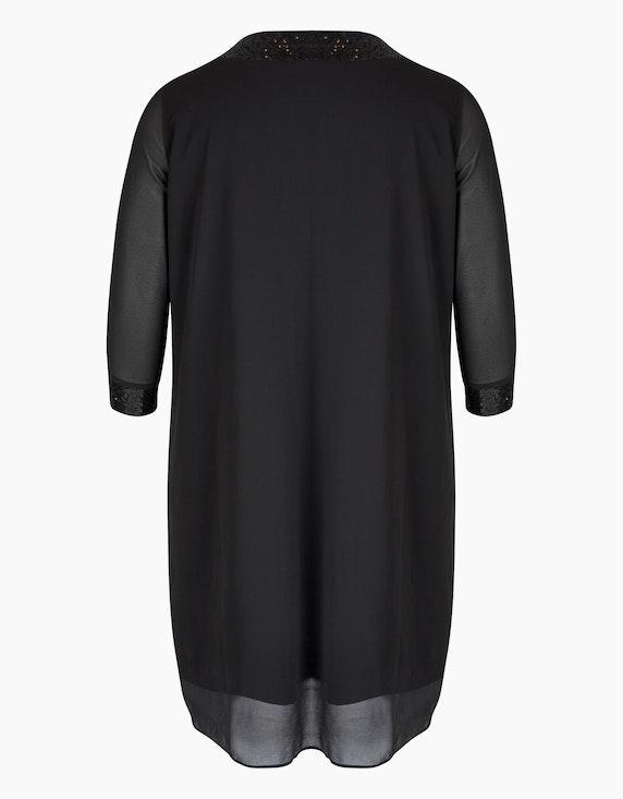 Thea Chiffon-Kleid mit Paillettenbesatz | ADLER Mode Onlineshop