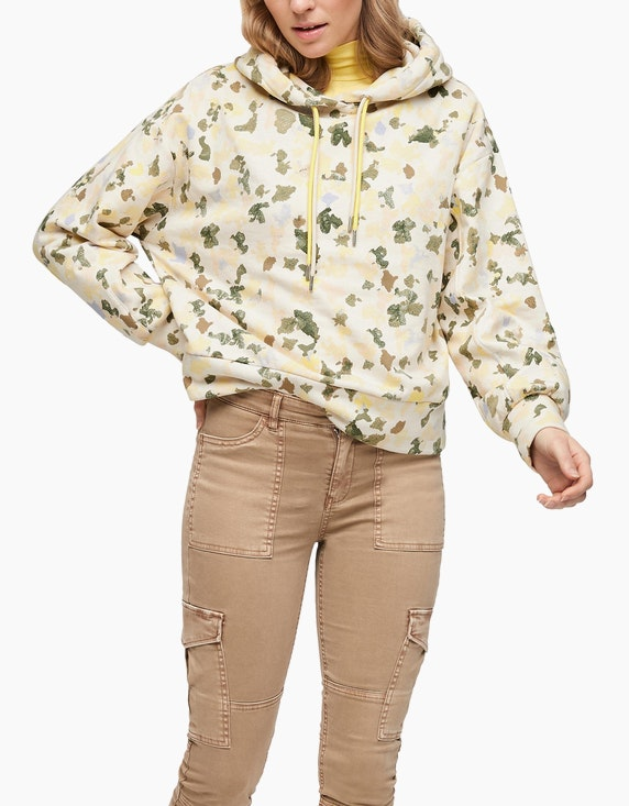 s.Oliver Sweatshirt mit Allover-Print | ADLER Mode Onlineshop