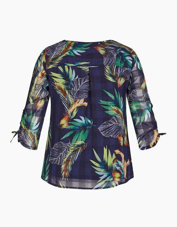 Bexleys woman Chiffonbluse mit Blättern und Karo | ADLER Mode Onlineshop