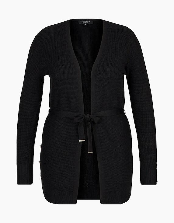 Bexleys woman modische lange Strickjacke in Schwarz | ADLER Mode Onlineshop