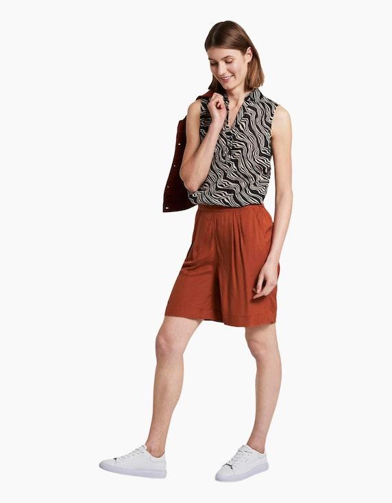 Tom Tailor lockere Bermuda-Shorts aus reiner Viskose   ADLER Mode Onlineshop