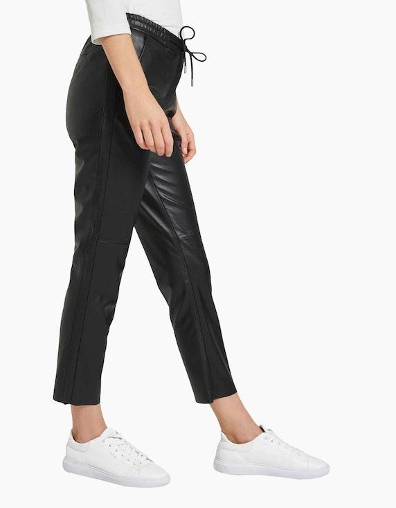 Tom Tailor Loose Fit Hose aus Kunstleder | ADLER Mode Onlineshop