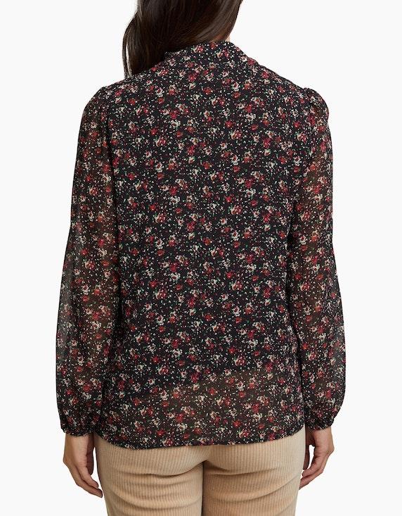 Esprit Bluse mit Schluppe und Allover-Print | ADLER Mode Onlineshop