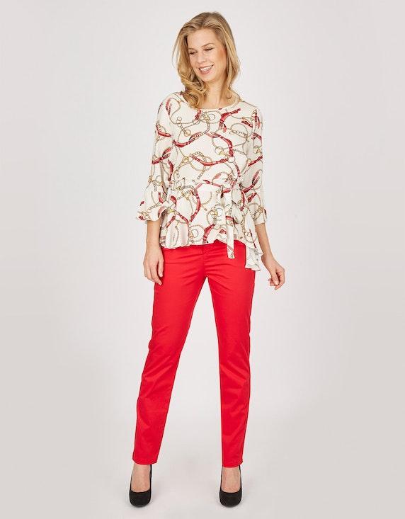 Bexleys woman Bluse mit Volantärmeln und Schößchen | ADLER Mode Onlineshop