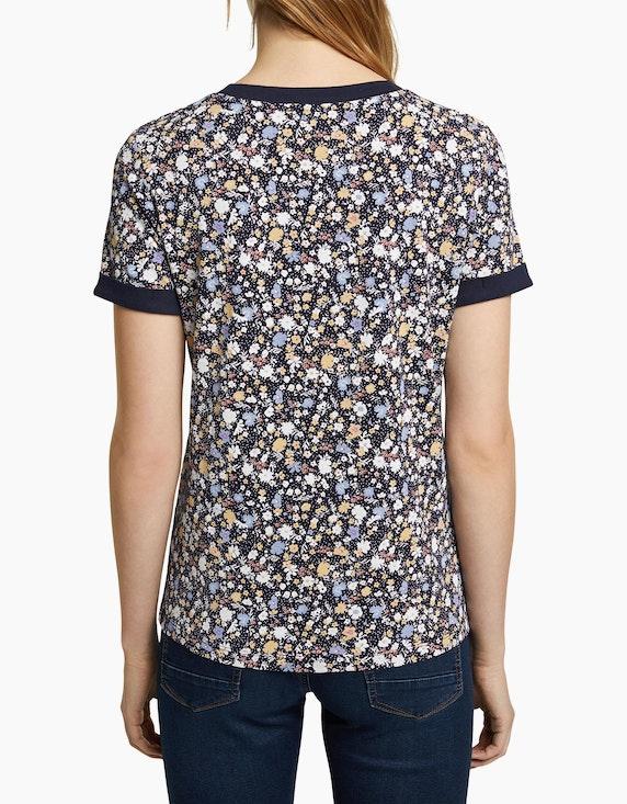 Esprit Jersey-Shirt mit Millefleurs-Muster, Bio-Baumwolle | ADLER Mode Onlineshop
