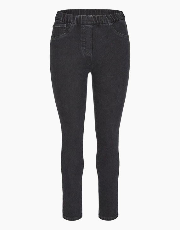 Bexleys woman Thermo-Jeggings in Normal- und Kurzgrößen in Dark Grey Denim | ADLER Mode Onlineshop