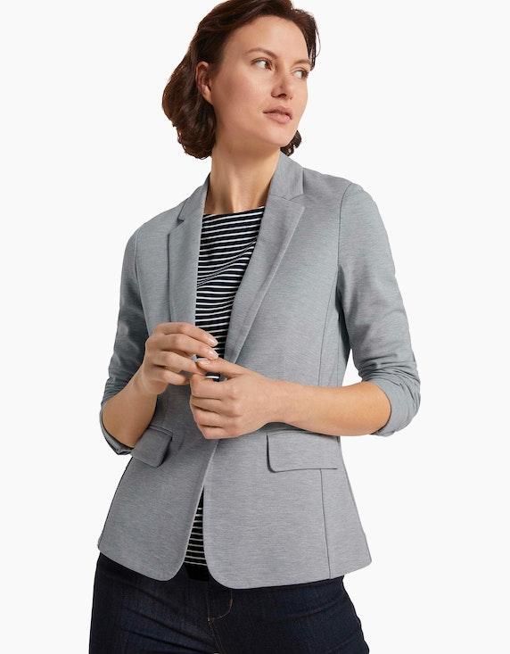 Tom Tailor Jersey-Blazer in Melange-Optik   ADLER Mode Onlineshop