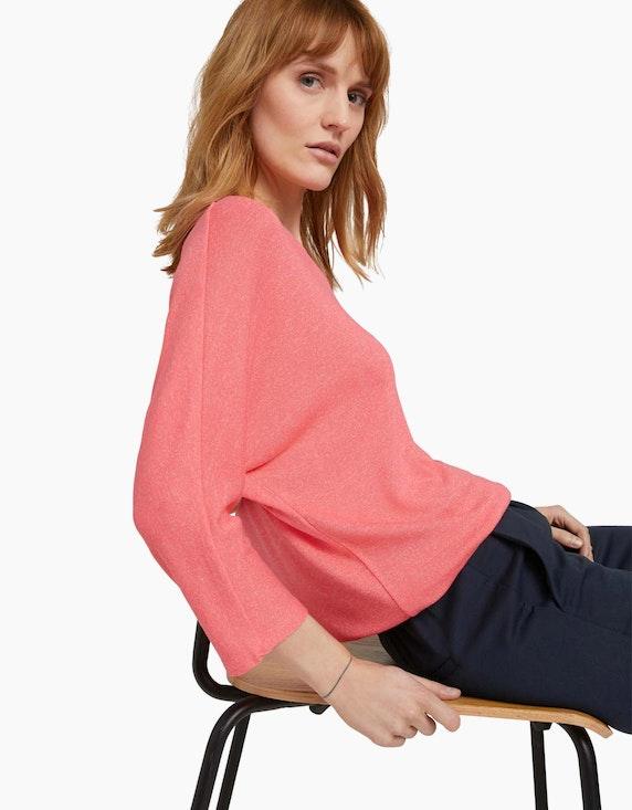 Tom Tailor Meliertes Shirt mit elastischem Bund | ADLER Mode Onlineshop