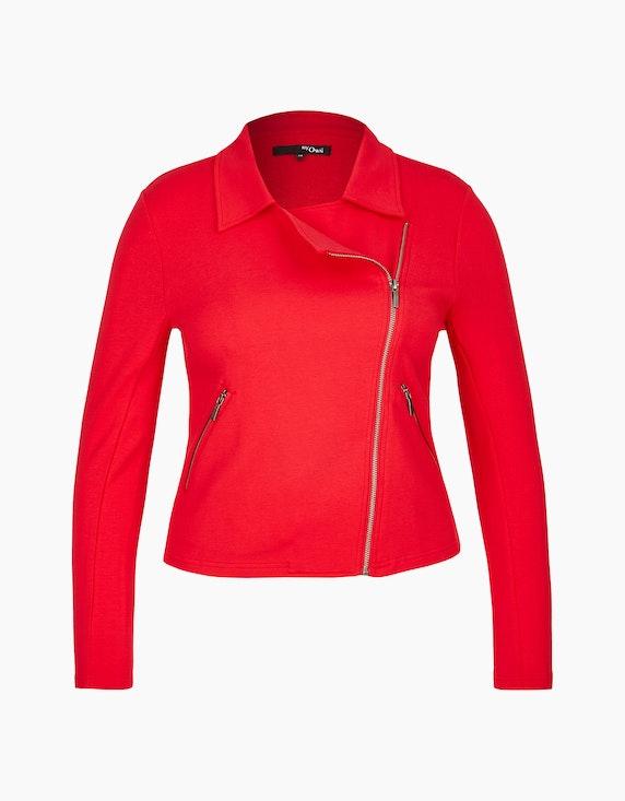 MY OWN Jersey-Jacke im Biker-Style in Rot | ADLER Mode Onlineshop