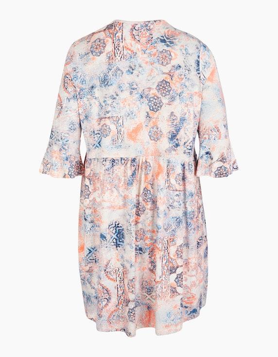 No Secret Kleid im Alloverprint mit Volantärmeln | ADLER Mode Onlineshop