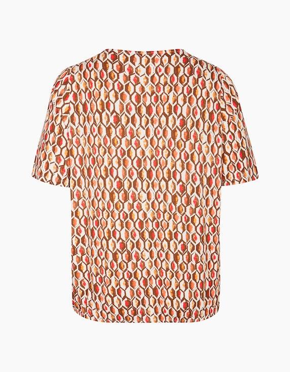 VIA APPIA DUE Modernes Blusenshirt mit geometrischem Allover-Muster | ADLER Mode Onlineshop