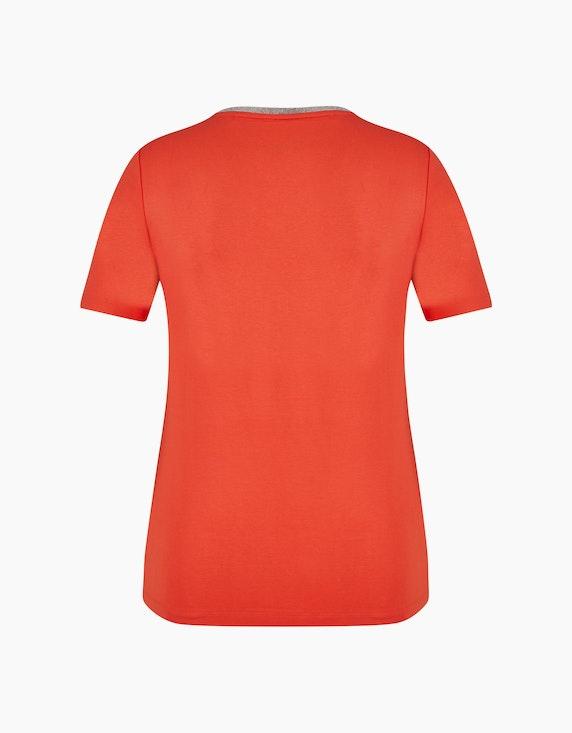 Steilmann Woman Shirt mit V-Ausschnitt und Kugelketten-Besatz | ADLER Mode Onlineshop