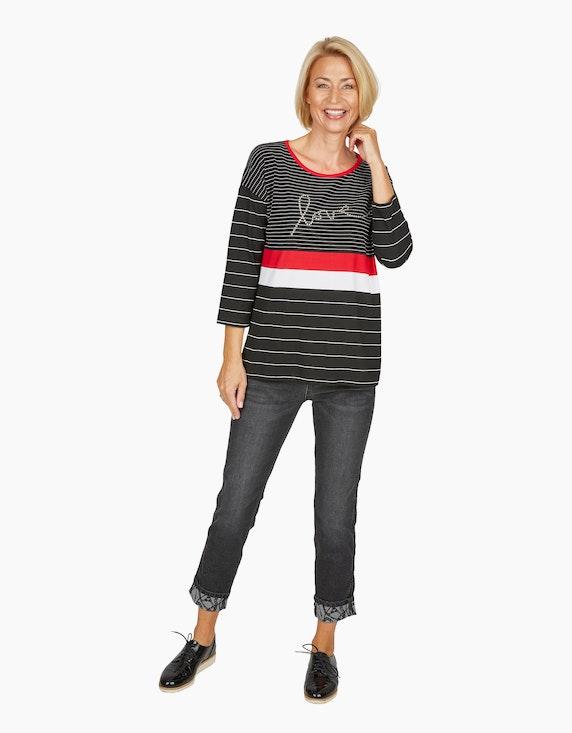 Steilmann Woman Jeans mit bedrucktem Aufschlag | ADLER Mode Onlineshop