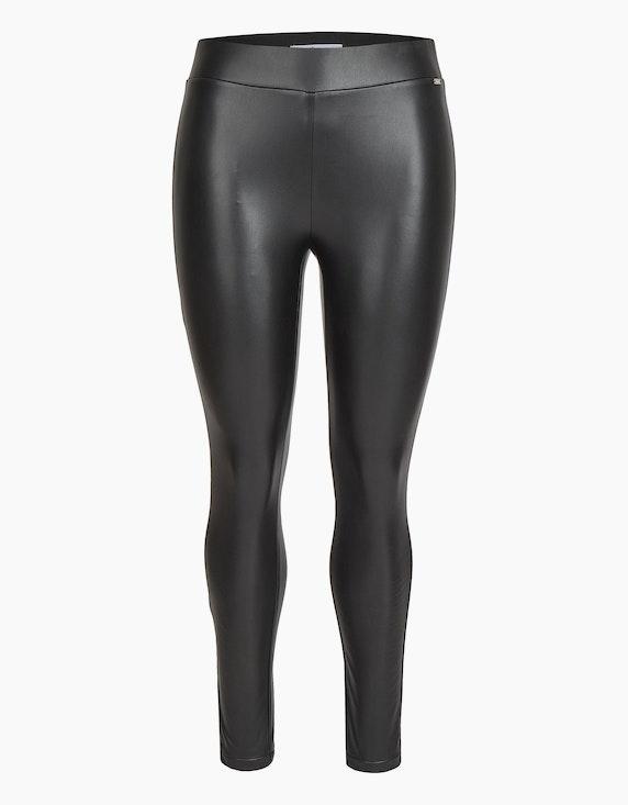 Steilmann Woman Lederimitathose mit breitem Bund in Schwarz   ADLER Mode Onlineshop