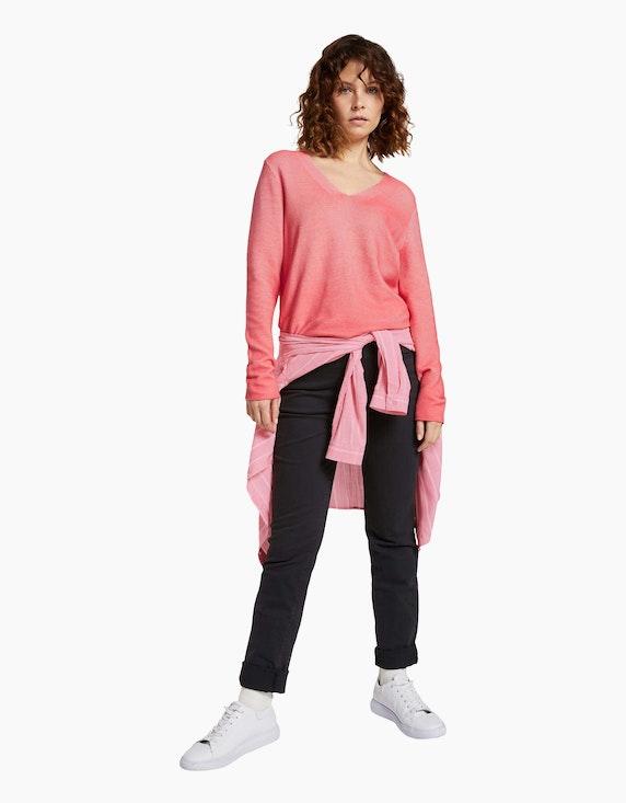 Tom Tailor Pullover mit Streifen-Struktur, reine Bio-Baumwolle | ADLER Mode Onlineshop