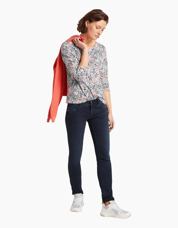 Tom Tailor Jersey-Shirt mit Allover-Muster | ADLER Mode Onlineshop