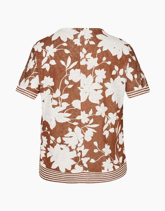 VIA APPIA DUE Geblümtes T-Shirt im Alloverdruck | ADLER Mode Onlineshop