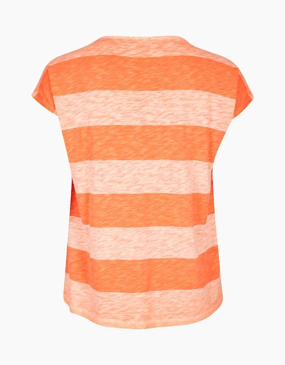 VIA APPIA DUE Gestreiftes Shirt mit Brustprint | ADLER Mode Onlineshop