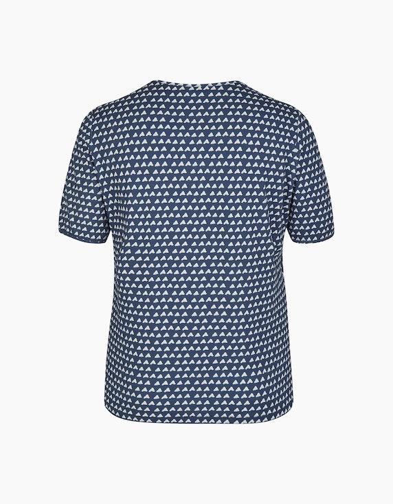 No Secret Shirt mit Alloverprint und Kordel | ADLER Mode Onlineshop