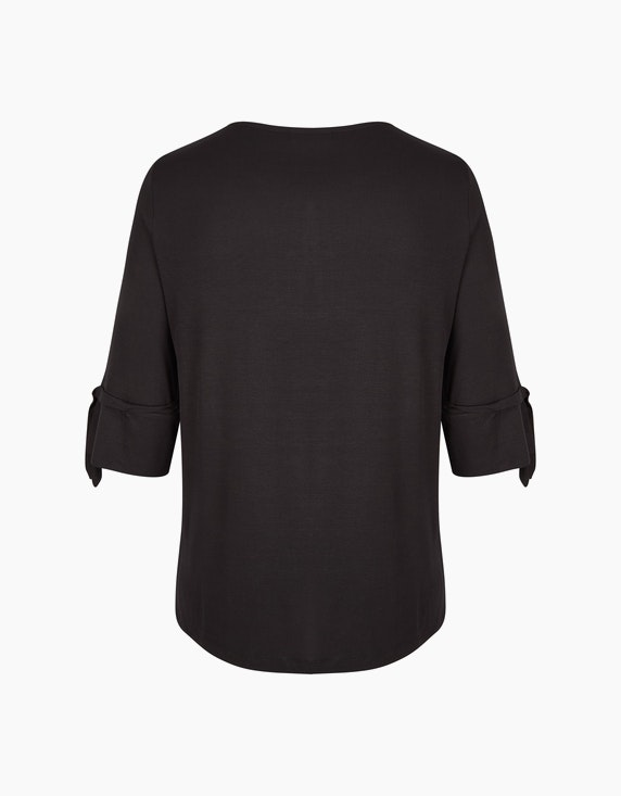 No Secret Shirt mit Krempelarm und Bindeband | ADLER Mode Onlineshop