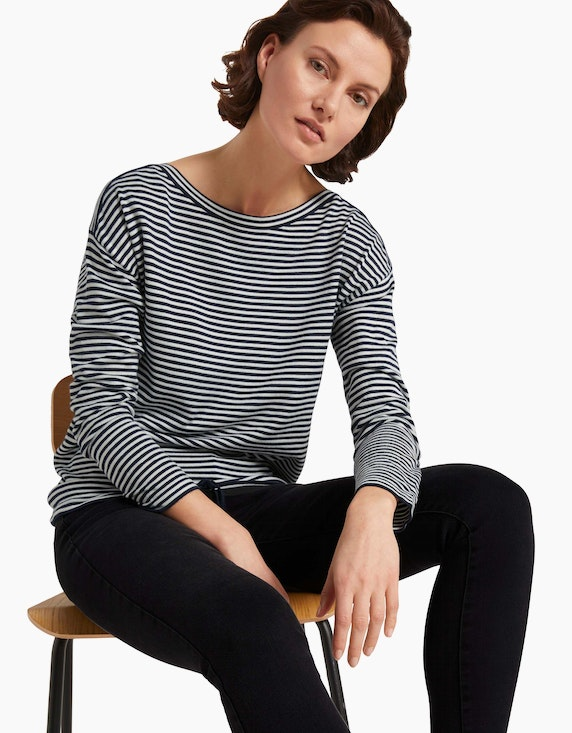 Tom Tailor Feinstrick-Pullover im Streifen-Look, Loose Fit | ADLER Mode Onlineshop