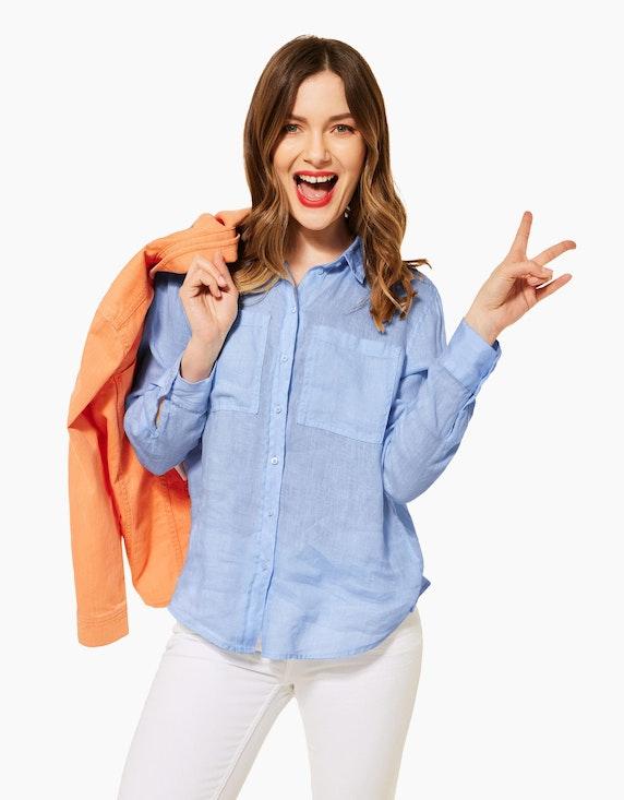 Street One Hemdbluse aus reinem Leinen | ADLER Mode Onlineshop