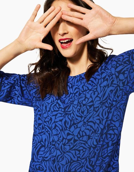 Street One Bluse mit grafischem Muster, reine Viskose | ADLER Mode Onlineshop