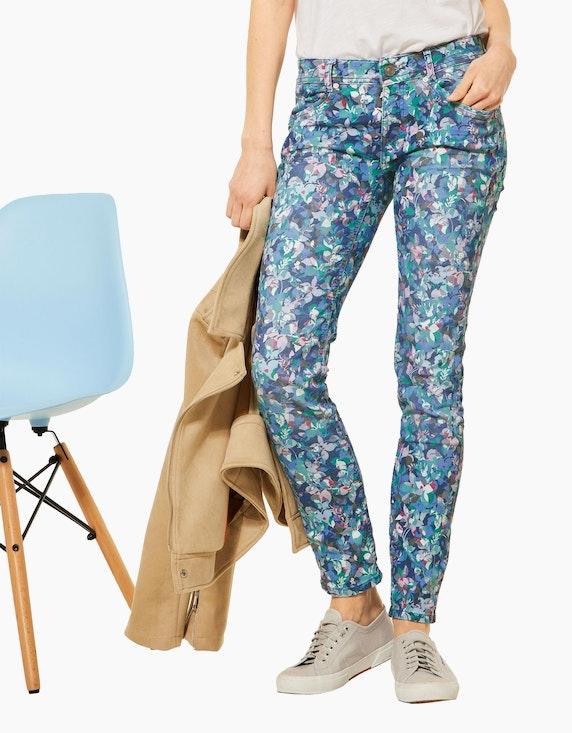 Street One Hose mit floralem Muster, Casual Fit, Crissi | ADLER Mode Onlineshop
