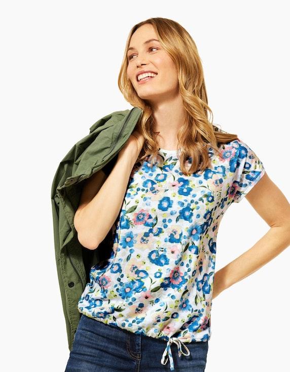 CECIL Shirt mit floralem Muster und Smoke-Details | ADLER Mode Onlineshop