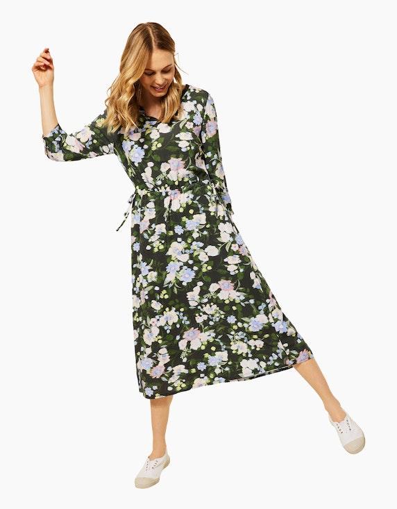 CECIL Blumen-Kleid in Midi-Länge, reine Viskose   ADLER Mode Onlineshop