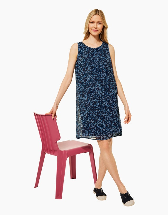 CECIL Chiffon-Kleid im Blumen-Design   ADLER Mode Onlineshop