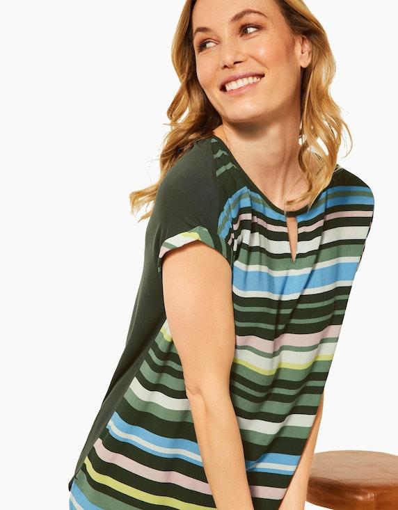 CECIL Bluse mit Streifen im Materialmix   ADLER Mode Onlineshop