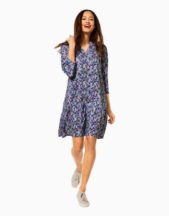 Street One Kleid im Multicolor-Millefleur-Look, reine Viskose   ADLER Mode Onlineshop