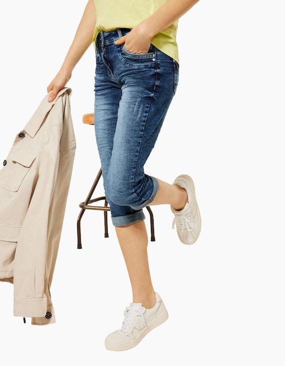 CECIL Denim-Jeans-Hose, Capri-Länge, Scarlett   ADLER Mode Onlineshop